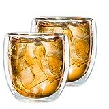 tea exclusive - 2er Set doppelwandiges TEEGLAS 300ml  mit Schwebeeffekt - auch für Eistee