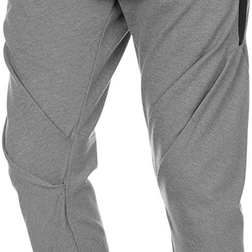 Everlast Uomo Drape Pantaloni da Jogging Grigio Marl