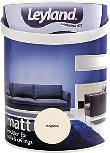 Leyland 303565 Matte Dispersionsfarbe, Magnolia, 5 l