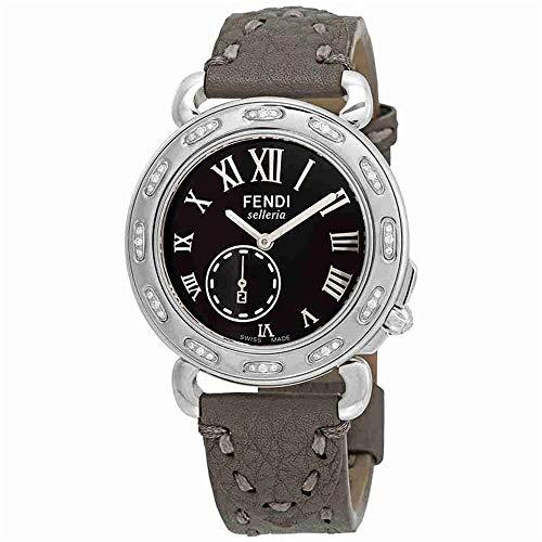Fendi Women's 37mm Silver-Tone Leather Band Case Quartz Watch F81031DCH