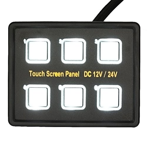 Auto Auto Boat Switch - Kingwo Voltmeter 6 Gang Touch Wasserdichte Auto Auto Boat Marine LED Panel Circuit Breakers