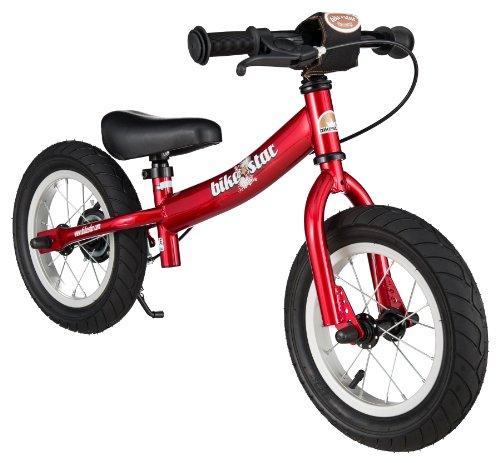 BIKESTAR Laufrad mit Seitenst&aumlnder und Bremse f&uumlr Kinder ab 3 Jahren, 30,5 cm, Sport-Edition, Rot