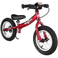 Bikestar - Bicicleta de Equilibrio para niños de 3 años de Edad con Lateral y Freno para niños de 12 Pulgadas, edición Deportiva, Color Rojo