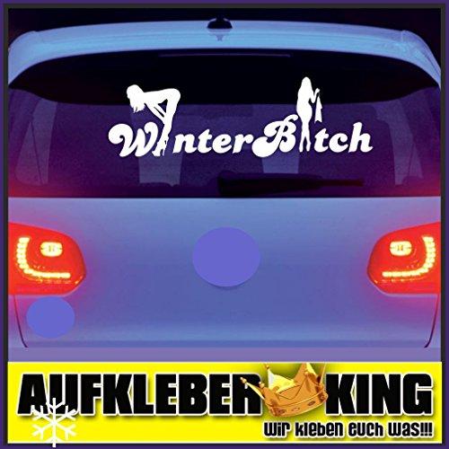 Winterbitch Stripper 90 cm Aufkleber Winterauto Winterkarre Tuning Autoaufkleber Heckscheibe Lack