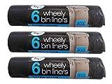 18 x Strong 300L Outdoor Wheely Bin Liners Waste Bin Bags Fits Bins 230 x 143cm