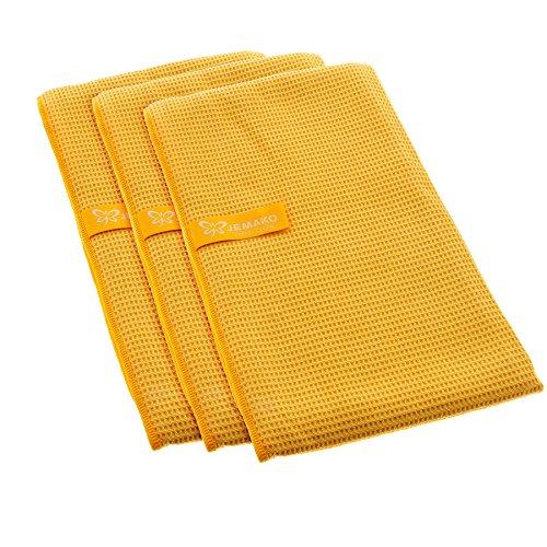 Jemako Trockentücher im 3er Set Gross 45 x 80 cm (Gelb)