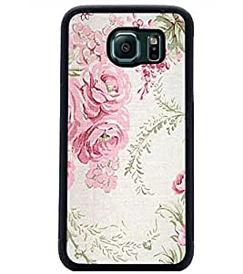 PrintDhaba Floral Pattern D-1976 Back Case Cover for SAMSUNG GALAXY S6 (Multi-Coloured)