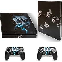 Skins adhesivos GNG para cubierta de PlayStation 4 PS4 de Batman Joker + 2 sets de skins del controlador