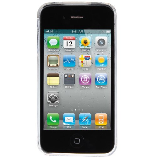 wortek Silikon TPU Schutzhülle Apple iPhone 4 / 4S Ranke Muster - Gelb 4 / 4S - Weiß