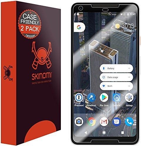 Skinomi TechSkin - Schutzfolie für Google Pixel 2 XL deckt den Display & ist Hüllenkompatibel, 2er Pack
