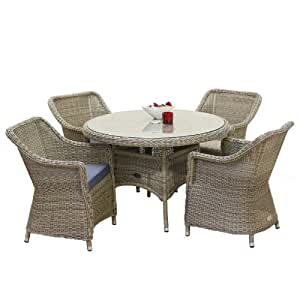 oseasons hampton rattan 4 esstisch set. Black Bedroom Furniture Sets. Home Design Ideas
