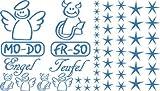 Autoaufkleber Sticker Aufkleber Set für Auto Schriftzug Engel Mo-Do Fr-So Teufe (053 hellblau)