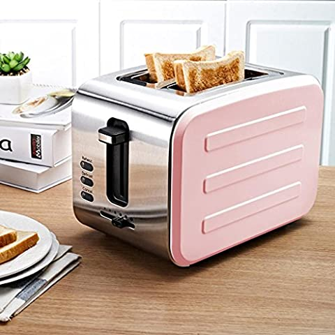 SZXC 2 Slice Retro Toaster • 2 Slots • Automatische Einstellung • 800 W • Abtauung • Auftauen und Aufwärmen • Edelstahl • Abnehmbarer Krümelbehälter • Vierfarbig , Pink high quality