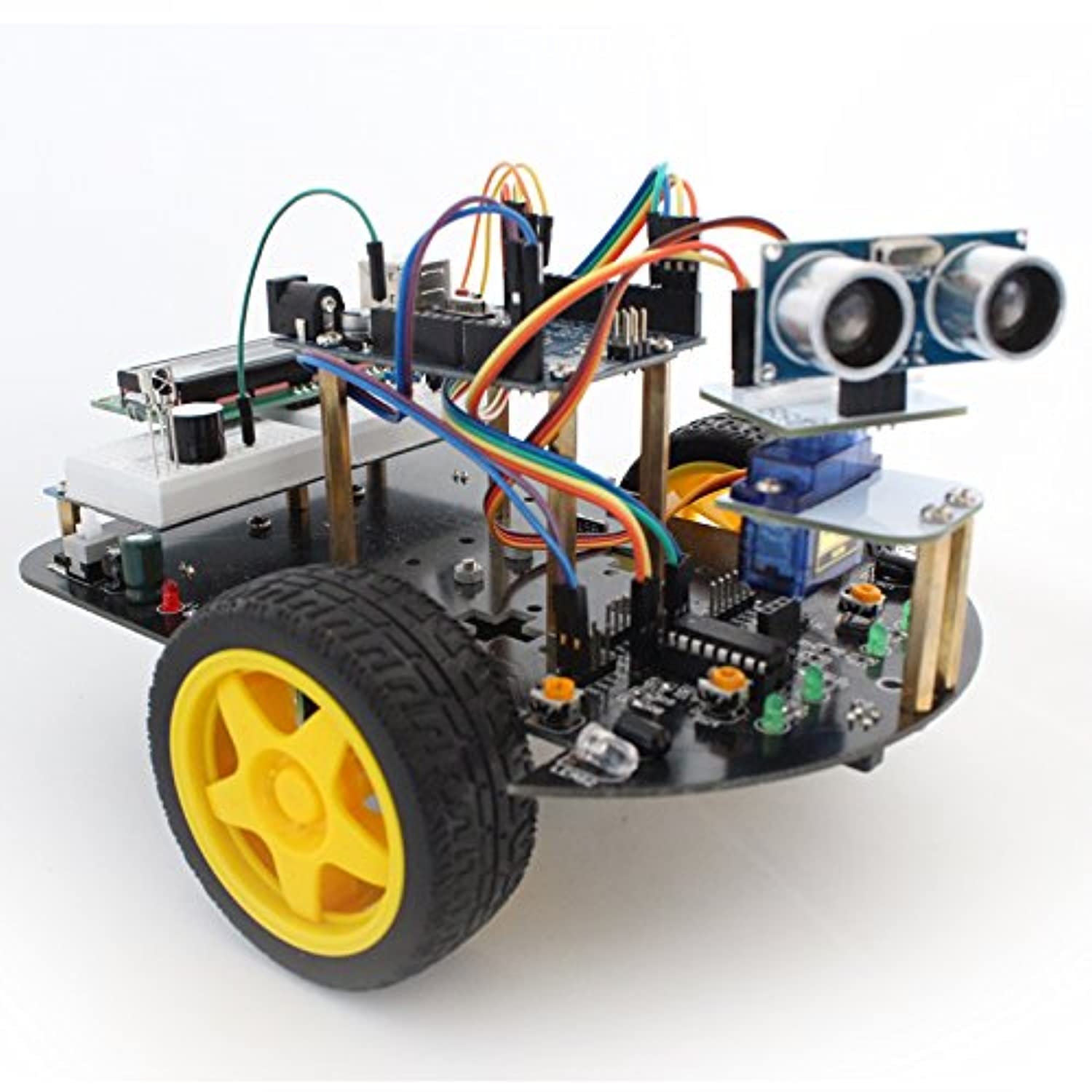 Kuman Upgraded SM2 Pro Robot Car Kit for Arduino, 2 Wheel Utility