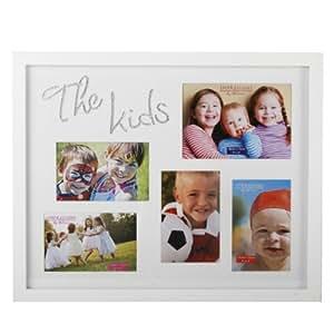 Personnalisé–Les enfants Cadre Multi Ouverture Blanc–Gravé avec votre message spécial