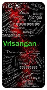 Vrisangan (Lord Shiva) Name & Sign Printed All over customize & Personalized!! Protective back cover for your Smart Phone : Vivo Y55L
