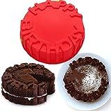 Vancgoods 7-Zoll-Wort Alles Gute zum Geburtstag Kuchen-Backen-Form-Kuchenform flexible Silikon-Kuchen-Herstellungform DIY Kuchen-Nachtisch backen ware molds