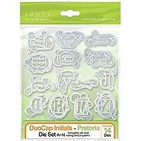Tonic Studios - Set di fustelle con lettere dell'alfabeto, modello Duocap Initials Pretoris, disponibili: A-N e O-Z