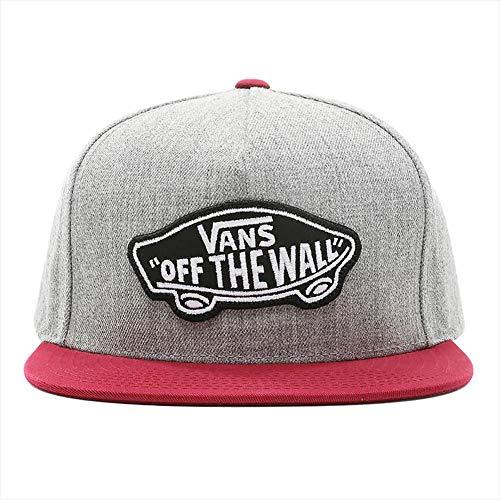 Vans Herren Baseball Cap Classic Patch Snapback, Mehrfarbig (Heather Grey-Rhumba Red Tjd), One Size (Herstellergröße: OS)