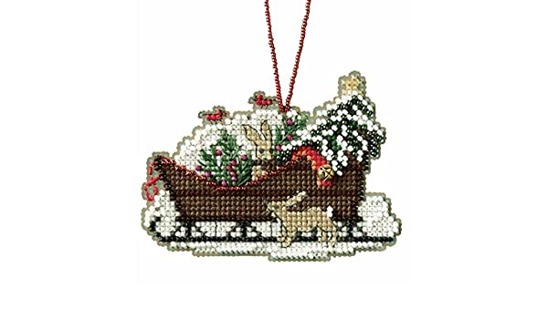 Woodland Sleigh Counted Cross Stitch Kit-3.5X2.5 14 Count