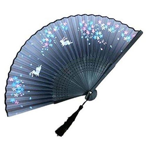 Handfächer Chinesisch / Japanisch Seide Falten Fan Aya Seide Handfalten (Japanische Kostüme Theater)