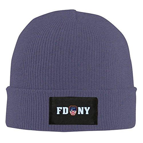 Black Fire Hat (XCarmen FDNY Fire Department New York Beanie Hat Snapback Men And Women Winter Cap Black Navy)