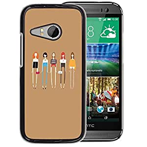Planetar® ( Ladies Fashion Friends Fashion ) HTC ONE MINI 2 / M8 MINI Coque De Protection Rigide Pour Cas Case