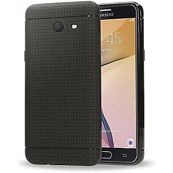 Samsung Galaxy J5 2017 (US-Model) Coque Silicone de Nica, Fine Housse de Protection Mince avec Points, Etui avec Slim Cover Anti-choc Case Bumper Souple pour Telephone Portable Samsung J5 17 - Noir
