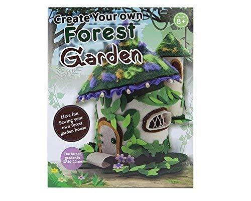 Trixes Waldgarten Bastelset inklusive Aller Bastelmaterialien aus Holz, Filz und Klebepads Wald Forest Garden Kunst und Handwerk Kit