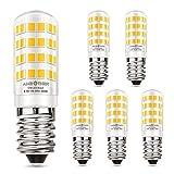 AMBOTHER E14 LED Lampen 4,5W/400LM Glühbirnen statt 50W Halogenlampe LED Glühlampe mit 52 Leuchtmittel Warmweiß 3000K 360° Lichtwinkel Energiesparlampe für Kühlschrank Kronleuchte Wandlampe, 5er Pack