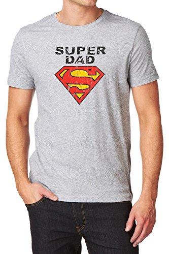 T-shirt Geschenk Super Dad Papa grau meliert XL (X-large) Umstandsmode von MY TUMMY ®©™