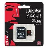 Kingston 64GB UHS-I Class U3 Micro SDXC Memory Card with Adapter (SDCA3/64GB)