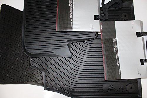 Preisvergleich Produktbild Original Audi Ersatzteile Audi A4 8K Gummi Fußmatten 4-teilig, Original Zubehör, vorn+hinten