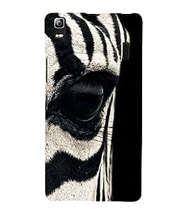 Zebra Eye 3D Hard Polycarbonate Designer Back Case Cover for Lenovo A7000 :: Lenovo A7000 Plus :: Lenovo K3 Note