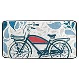 LASINSU Modello Senza Cuciture dell'estratto dell'incrociatore della Spiaggia di Vettore,Tappeto da Bagno Assorbente Tappeti Bagno Antiscivolo,99 * 51cm