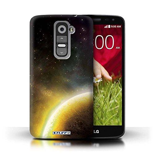 Kobalt® Imprimé Etui / Coque pour LG G2 Mini/D620 / Planète Pourpre conception / Série Cosmos Planète Jaune