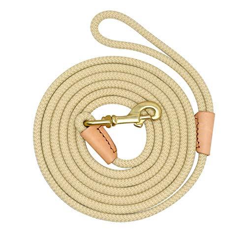 Feidaeu Hund Lange Leine führt Seil langlebig Rutschfeste Nylon Tracking Training Walking Leinen 3m 5m 10m 20m (Remote Pet Training Kragen)