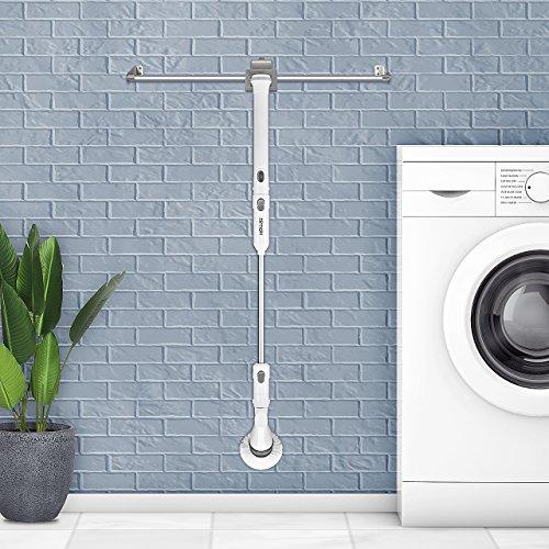 comprare on line Homitt Spazzola elettrica di pulizia,Spin scrubber spazzola di spinatura spazzola ricaricabile con 3 spazzole di pulizia elettriche, 1 maniglia estesa e adattatore per bagno, parete e cucina prezzo