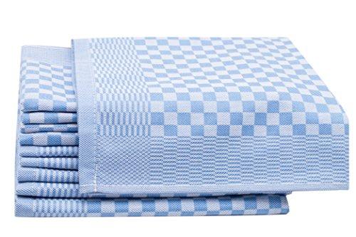 Zollner set di 10 strofinacci, 46x70 cm, a quadretti blu, in altri colori