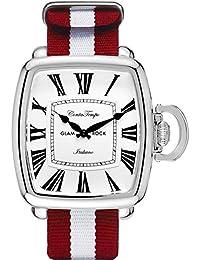 Glam Rock Men's Vintage Two Tone Nylon Band Steel Case Quartz Watch GR28085F