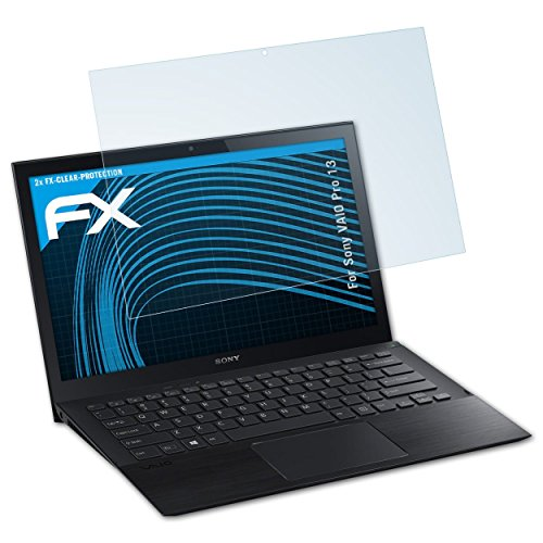 atFolix Schutzfolie kompatibel mit Sony VAIO Pro 13 Folie, ultraklare FX Displayschutzfolie (2X)