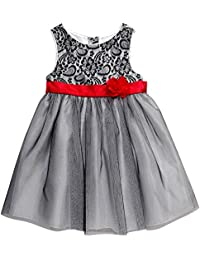Youngland Baby Girls' Lace Bodice Sparkle Tulle Dress