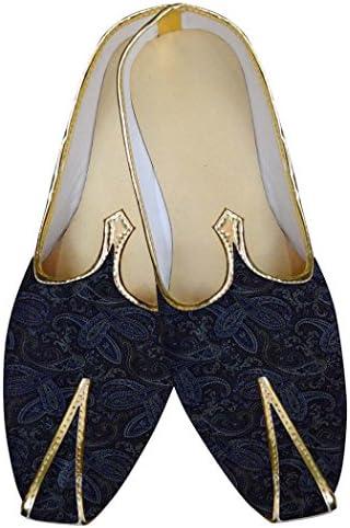 INMONARCH Marina Oscuro Hombres Boda Zapatos Self Diseño MJ015595