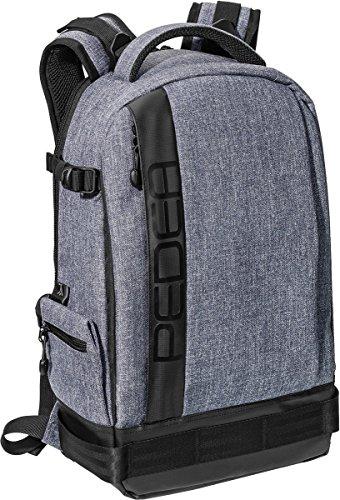 PEDEA SLR-Kamerarucksack Fashion Kameratasche Fotorucksack SLR Rucksack mit Regenschutz, variabler Inneneinteilung und Zubehörfächern, grau