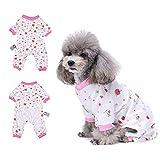 Cherry Pyjama vêtement pour chien confortable Puppy Pyjamsa doux Chien JumpSuit pour homme 100% coton Manteau pour petits chiens et chats par Hongyh