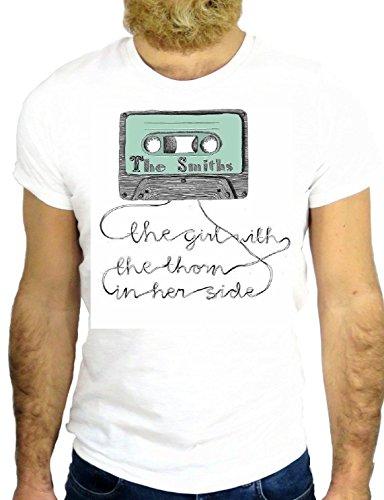 T SHIRT JODE Z2445 CASSETTE TAPE RECORD FUN LP VINIL MUSIC 80'S COOL FUN USA GGG24 BIANCA - WHITE