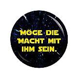 Kiwikatze® JGA - Möge die Macht mit ihm sein (Das Wars) 37mm Button Ansteckbutton Junggesellenabschied und Hochzeit