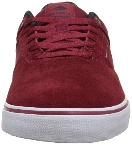 Emerica The Reynolds Low Vulc, Chaussures de skateboard homme Bordeaux