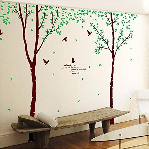 Stilvolle Minimalistische Birke Sofa Wand GroßE Wandaufkleber Wohnzimmer Tv Schlafzimmer Dekorative Aufkleber Aufkleber 60 X 90 Cm - Birke Wohnzimmer Sofa