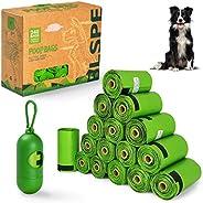 SWIPPLY Dog Poop Bags Pet Dog Supplies 240 Bag 16 Rolls With Dispenser and Waste Dog Poop Bag Leash Clip for D